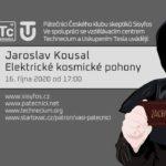 Jaroslav Kousal: Elektrické kosmické pohony, 16. října 2020