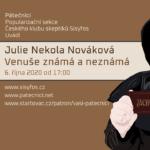 Julie Nekola Nováková: Venuše známá a neznámá, 6. října 2020