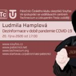 Ludmila Hamplová: Dezinformace v době pandemie COVIDu-19, 20. října 2020