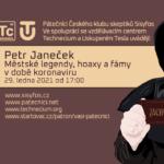 Petr Janeček: Městské legendy, hoaxy a fámy v době koronaviru, 29. ledna 2021