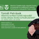 Tomáš Petrásek: Všechno na Mars! Vyřeší nejnovější sondy záhadu života na rudé planetě?, 13. ledna 2021
