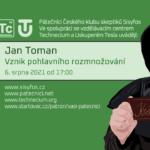 Jan Toman: Vznik pohlavního rozmnožování, 6. srpna 2021